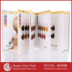 Professional color chart swatch permanent salon hair color shades