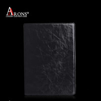 Black crazy horse texture leather folio case for ipad mini case