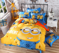 cheap wholesale high quality 3d cartoon kid child Bedding Set Minions kids Bedclothes any Size for girls CD1039