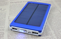 10000mAh Solar Panel Power Bank Dual USB External Battery Charger for Phone
