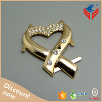 Beautiful heart shaped fancy rhinestone gold ladies shoes 2013 shoes accessory