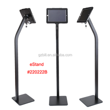 kiosk floor stand for iPad/ advertising outdoor support/ tablet lock adjustable holder display at restaurant or hotel lobby