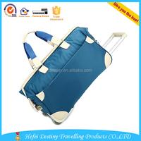 unisex large capacity waterproof travel sport bag trolley