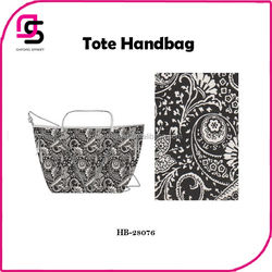 Art work designer canvas Paisley print fashion tote bag,new women shopping handbags