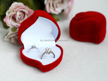 Wholesale creative continental red high-end jewelry box Jewelry earring ring packing box Small adorn article flocking box