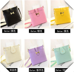 Candy color women trendy messenger bag
