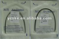 orthodontic niti arch wire coloerd heat activated niti reverse curve arch wire