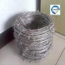 2015 électrique de fer barbelé galvanisé Wire16 # x 16 # / Hot galvanisées placage barbelés