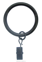 Curtain Accessory Heavy Gauge Metal Curtain Ring w/Small Ring And Clip for 25mm/28mm or 32mm Curtain Rod/Pole