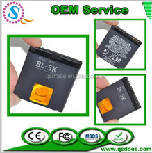 High Replacement For NOKIA Battery BL-5K Mobile Phone Battery Factory OEM