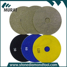 Hot Sale Velcro Diamond Electroplated Polishing Pads for Marble/Granite/Concrete/Terrazzo