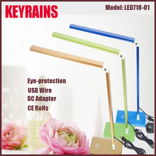 Dimmable Folding Aluminum Glass Base LED Modern Table Lamp with usb wire, modern table lamp