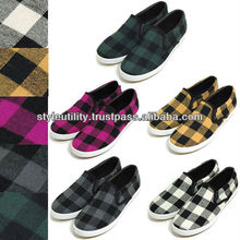 ssg0602 Familly(Kids&Adults) Youth8 to US10 square check slip-on shoes
