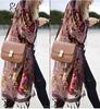 M40760 Factory price tie dyed Floral print kimono blouse boho kimono fringes kimono for women Wholesale