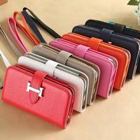 Litchi Grain Leather Wallet Purse Clutch Bag Handbag Mobile Phone Case For Apple iPhone 6 Plus