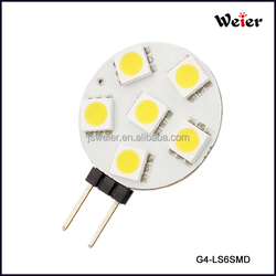 CRI>80 1.2W G4 5050 6PCS SMD Auto Led Light