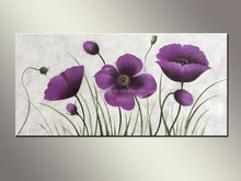 Beautiful Canvans Abstract Flower Oil Painting For Bedroom Decoration