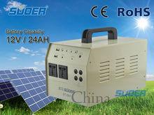 Ultra-230V solar power system 12v/24AH portable solar power system quite solar power system with built-in 500W inverter