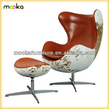 replica Arne Jacobsen cow hide egg leather chair