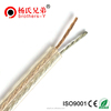 High end Factory Price Transparent Speaker cable 0.5/0.75 / 1.0/1.5 / 2.5 MM2 microphone cable