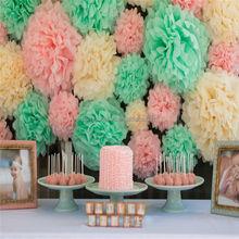 Tissue Paper Pom Poms Wedding Party Decoration, Craft Paper Flower Ball Home Decoration