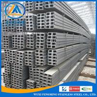 Mild Iron Steel U Channel Standard Sizes