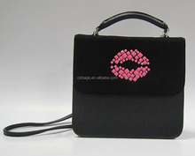 Wholesale good quality lady PU handbag with removable strap