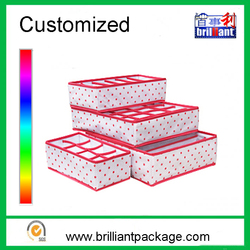 Promotional customized non woven foldable socks and underwear storage boxes