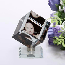Pretty Creative Crystal Image Decoration, Cube Home Crystal Image