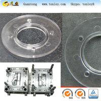 pvc clear meterial plastic injection decorative quarter round moulding