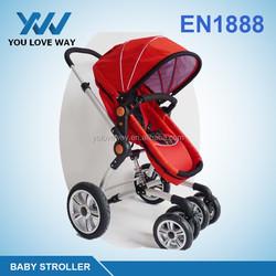 2016 Cheaper price china baby stroller travel system stroller en1888 4 or 3 wheeled baby bike trailer