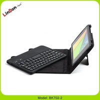 New trendy Bluetooth Keyboard with book style leather case for google nexus 7