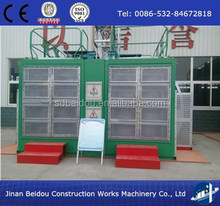 SC200/200 double cage construction building passengers and cargo lift
