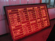 scrolling message led car sign board, Semi outdoor electronic led message panel, led board for scrolling message