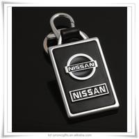 Nissan Metal Keychain,Nissan 3D Keychain Ring,Metal Car Logo Leather Keychain
