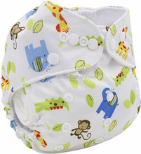 One Size Washable Reusable Pocket Antibacterial Bamboo Cloth Diapers