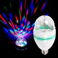 Hot Sale 3W LED RGB Stage Lighting Rotating Strobe Lamp Sound Control Disco Ball Light For Disco Dj Party Club Bar Home
