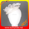 white mini top hat headband fascinator wholesale