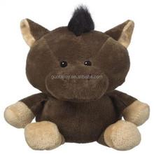 dark brown plush stuffed cattle kids plush pet toy