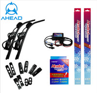 Long Lifespan Latest heated universal wiper blade with A grade rubber refill ,winter Anti-Snow boneless Wipers