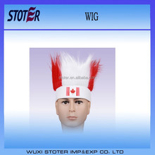 New style Canada football fans wig with head band
