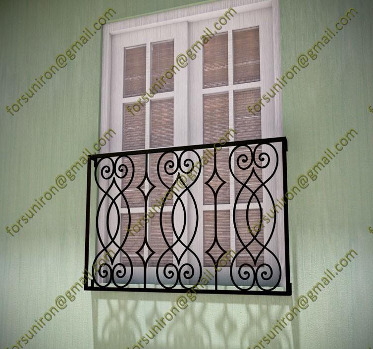 Modern balcony grill designs iron grill designs for for Balcony safety grill designs