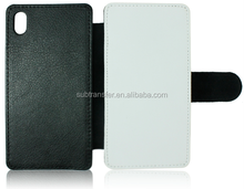 Hot Selling sublimation phone case leather wallet flip cover for Sony Z1 L39H
