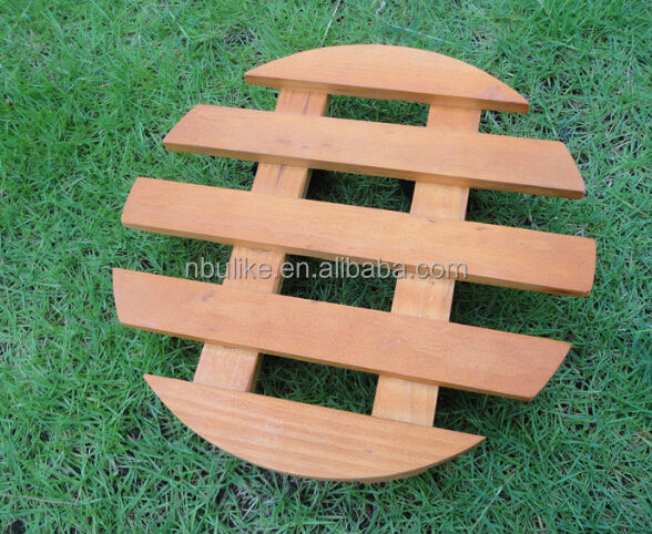 High Quality Wooden Flower Pot Stands Wooden Plant Dolly