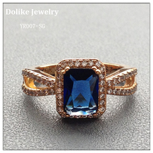 Multi Color Multi Size Gold Plated Jewelry Bridal Zircon Rings for Women