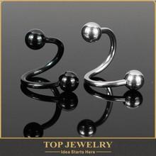 lip piercing jewelry Unisex Stainless Steel Twist Nose Lip Ring Bar Body Piercing Belly Earring Jewelry