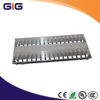 2015 new design T5 Louver Fittings Grille Lamps Grid Light Fixtures
