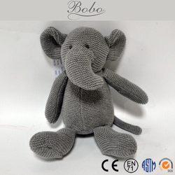 Knitted Elephant/Bear/Mouse Stuffed Toys for Wholesale