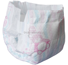 Diapers which care for baby's skin with soft breathable pe flim and dry surface
