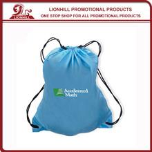 promotional custom 190T polyester drawstring sports bag